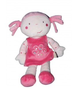 TAPE A L'OEIL TAO Doudou Poupée rose robe 30 cm