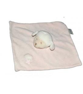 Doudou plat rose mouton agneau Bout'chou Monoprix Nuage étoile