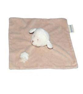 Doudou plat beige mouton agneau Bout'chou Monoprix Nuage étoile