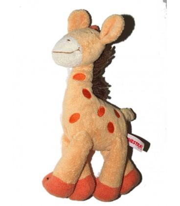 Doudou Girafe orange Laine marron Orchestra 20 cm
