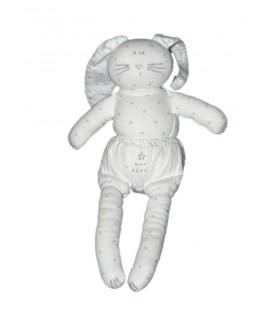 Doudou Lapin blanc Petit Bateau Mon Rêve Etoiles 24 cm
