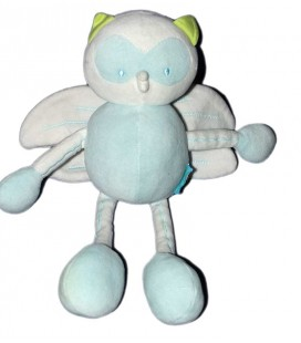 Doudou Hibou bleu Marèse 20 cm