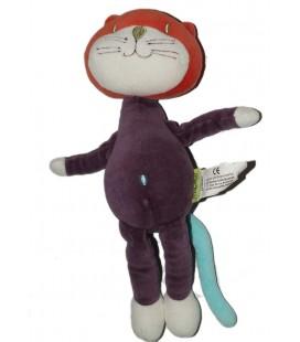 Doudou Chat violet mauve Marèse 30 cm