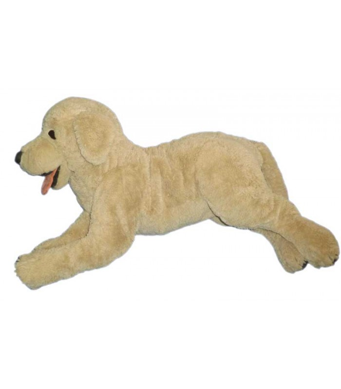 peluche xxl chien beige ikea gosig golden retriver l 90 cm. Black Bedroom Furniture Sets. Home Design Ideas