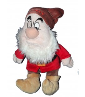 Doudou peluche Nain Grincheux Blanche neige et les 7 nains Grumpy Disney Nicotoy 26 cm
