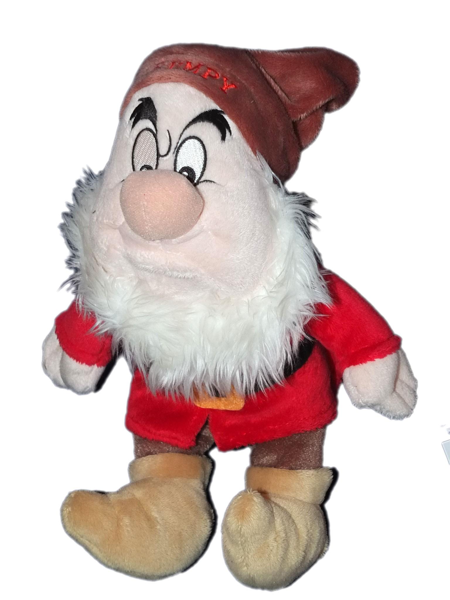 doudou peluche nain grincheux blanche neige et les 7 nains grumpy disney nicotoy 26 cm - Nain Grincheux