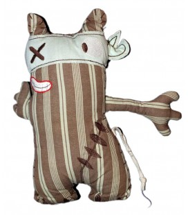 Doudou Pirate Chat marron bleu DPAM - Du Pareil au Meme 28 cm