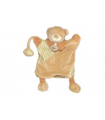 Doudou OURS Marionnette Mr OURS BaBY NaT Babynat Marron clair beige