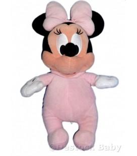 Doudou peluche MINNIE Bébé noeud rose Disney Parks Disney's Babies H 35 cm