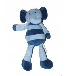 Doudou Elephant bleu Marks and Spencer 34 cm