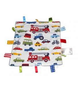 H&M Doudou plat voitures Camion pompier Etiquettes