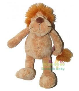 Doudou peluche LION beige marron NICI 32 cm