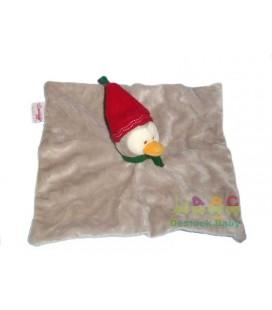 Doudou plat gris Pingouin BENGY Bonnet rouge 2009