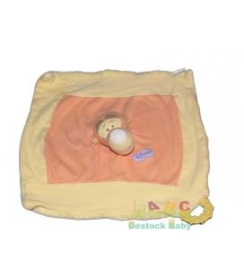 Doudou Disney Baby Plat TIGROU tissu jaune orange