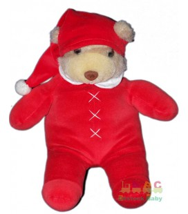 Peluche Ours pyjama rouge Perfectel DAMART 40 cm