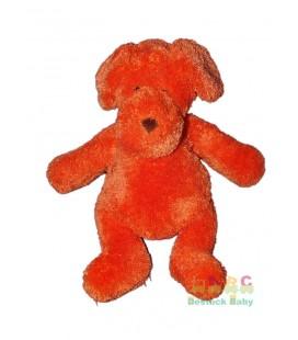 AJENA Doudou Peluche Chien Lapin orange 30 cm