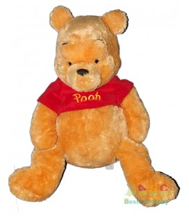 Peluche Géante Winnie Longs Poils 55 cm Disneyland Disney Store Exclusive