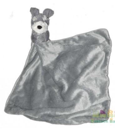 doudou-chien-gris-argent-mouchoir