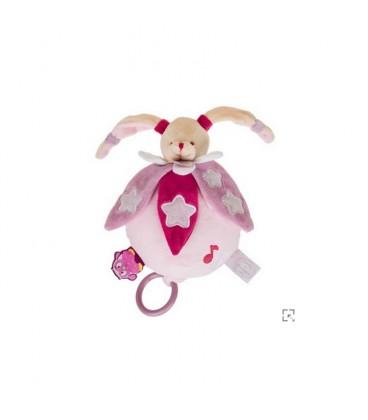 Lapin plat rose chouette ça brille luminescent étoile Doudou et Compagnie NEUF