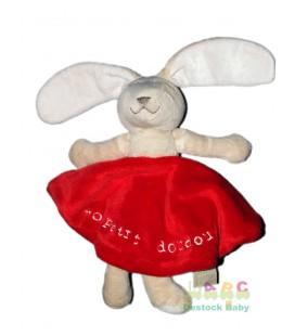 TAPE A L'OEIL Doudou plat lapin rouge Petit doudou TAO