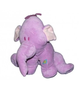 Doudou peluche Floppy LUMPY L'Efelant Elephant mauve Disney Baby Nicotoy 26 cm 587/8374