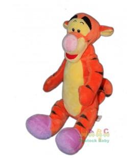 Doudou Peluche TIGROU chaussons mauves 32 cm Disney Nicotoy