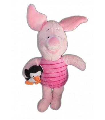 Doudou peluche PORCINET 35cm - Petit Pingouin - Disney Nicotoy