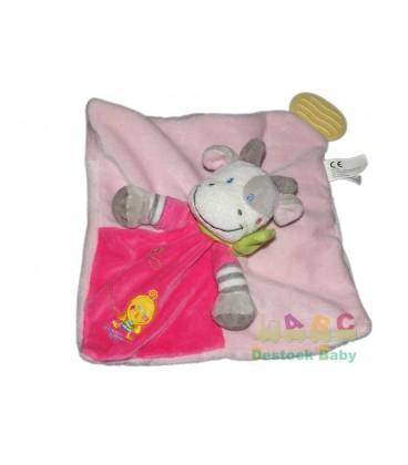 nicotoy-doudou-plat-vache-rose-poussin-nicotoy-5796440