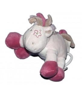 doudou-peluche-noukies-cheval-victoria-et-lucie-rose-mauve-15-cm