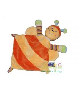 Mots d Enfants Doudou plat Abeille Papillon Jaune orange