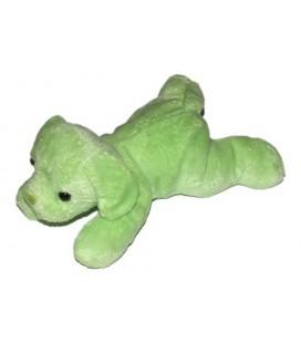 Doudou Chien vert allongé Max et Sax 20 cm