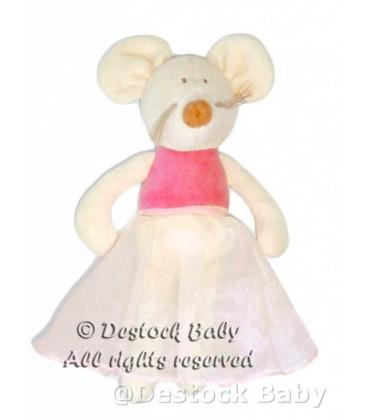 doudou-souris-rose-les-petites-fees-jacadi-22-cm