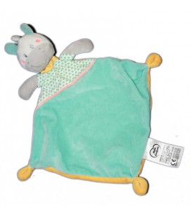 Mots d'Enfants Doudou plat cheval poney ane bleu 579/2454