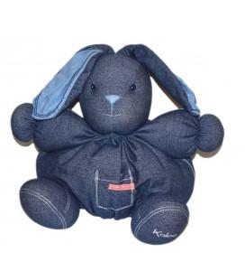 KALOO Lapin maxi doudou Lapin denim bleu marine 38 cm
