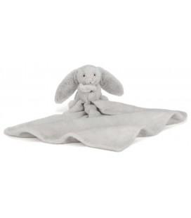 Jellycat - Doudou plat lapin gris bashful 40 cm