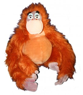 peluche-singe-roux-orange-orang-outang-tarzan-le-livre-de-la-jungle-roi-louis-disney-disneyland-paris-48-cm