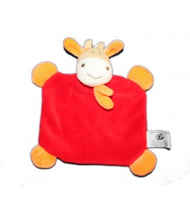 Doudou plat vache rouge orange CP International