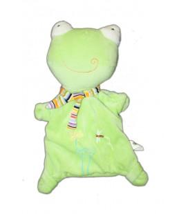 Doudou marionnette grenouille verte CP International Idem Bremel