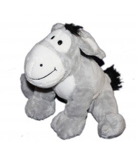 Peluche doudou ane gris CP INTERNATIONAL 22 cm
