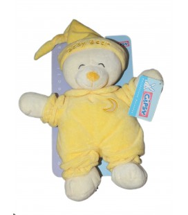 Gipsy doudou peluche ours jaune Baby Bear 32 cm Lune