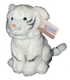 Peluche bébé tigre blanc 24 cm Gipsy Collections peluches