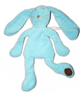 Doudou lapin bleu turquoise DPAM Du Pareil au Meme 32 cm