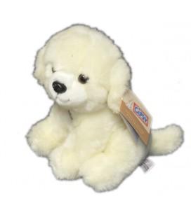 Peluche chien blanc qui aboie Gipsy 20 cm