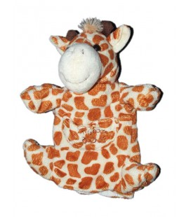Doudou marionnette girafe marron HISTOIRE D'OURS