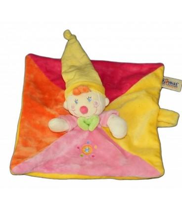 LOMBOK - The Plushies Collection - Doudou Lutin Clown rose jaune orange