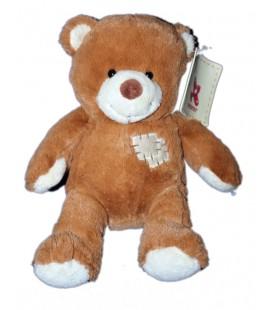 doudou-peluche-ours-marron-roux-patch-nicotoy-5830718-assis-18-cm