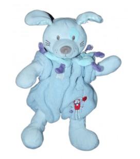 Doudou lapin chien bleu TEX Baby Carrefour 26 cm