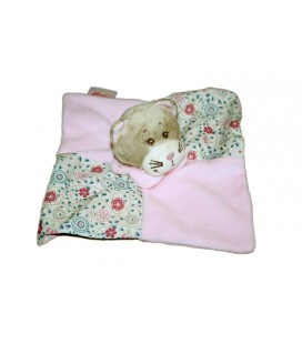 Doudou plat chat rose Marianne Bengy Amtoys 2010