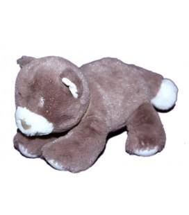 doudou-chien-ours-chat-marron-glace-blanc-nicotoy-5700017-collier-bandana-foulard-20-cm