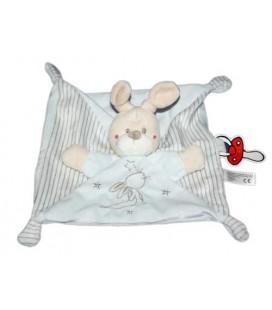 neuf-doudou-plat-lapin-bleu-rayures-kiabi-simba-toys-5690057